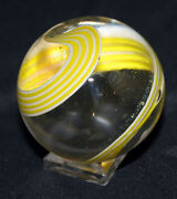 Pt Kenin 1.75 Simple And Eloquent Yellow White Swirl Stringers Marble 7701
