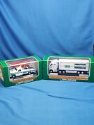 Hess Mini Miniature Fire Trucks Lot Of 2 For Years 2007 And 2013 As Seen. New
