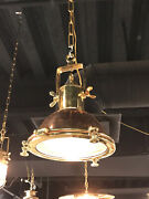 Nautical New Marine Brass And Copper Hanging Pendant Light With Hook Lot Of 5
