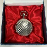 Stunning Quartz Pocket Watch Stainless 48mm Diameter Battery Operated Fast Post