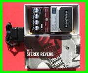 2009 Hardwire Rv-7 Stereo Reverb Pedal 7 Lexicon Reverbs Ac Adapter New In Box