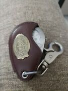 Remington Mens Pocket Watch With Leather Case And Key Fob.