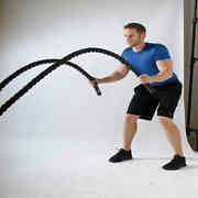 1.5 30ft Poly Battle Rope Exercise Workout Strength Training Undulation Power