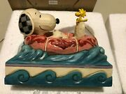 Peanuts Jim Shore Snoopy Woodstock Float Away 6005942 New Hand Signed By Js