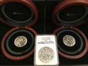 Gods Of Olympus 2 Oz Silver High Relief - Complete 3 Coin Set - Tuvalu - 2014