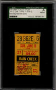 Mickey Mantle Day 6/8/1969 Ticket Stub / Psa Authentic