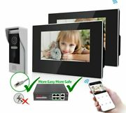 Wifi Home Smart Doorbell Waterproof With Motion Detection Touch Screen Mode 220v