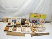 Lot X-acto Vintage House Of Miniatures Wood Doll Furniture Kits Windows