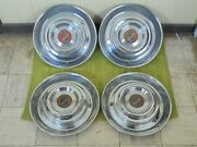 54 55 Cadillac Hub Caps 15 Set Of 4 Caddy Wheel Covers 1954 1955