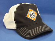 Allis Chalmers Tractor Hat - Black White - Soft Mesh - Low Crown - Snapback Dia