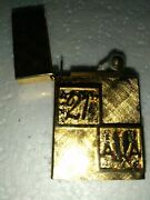 14k Gold Plated Vintage Slim Lighter Usa American Airlines Club 21