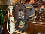 Late 1800's Western Cow Horn Hat And Gun Rack Watch Video