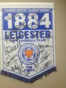 Genuine Leicester City Signed Pennant 2000 League Cup Final V Tranmere 2 - 1