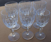 Waterford Crystal Lismore Glass Wine Glasses Goblets Hocks Set Of 5 W/ 1 Extra