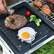 Bbq Grill Sheet Hot Plate Easy Clean Non-stick Grilling Pan Kitchen Outdoors