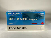 Redland Reliance Surgical Blue 4ply Ear Loop Face Mask Astm Level-3 50 Pcs/box