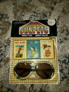 Vintage Dime Store Toys Sunpets Kiddie Sunglasses And Children's Card Games Rare