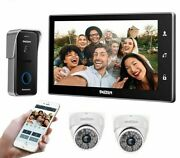 Wireless Video Doorbell Wifi Digital Systems Call Transfer Among Indoor Monitors