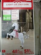 Holiday Time 51 Tall Light-up Unicorn With Twinkling Effect Yard Decor - New