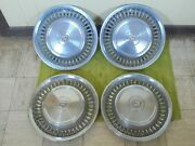 71 72 Cadillac Hub Caps 15 Set Of 4 Wheel Cover 1971 1972 Caddy Hubcaps