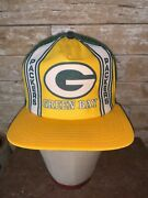 Vintage Rare 80s Green Bay Packers Yellow Nfl Football Trucker Cap Hat Snapback