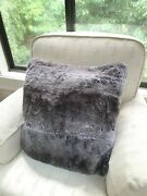 Hobby Lobby Faux Fur Pillow Covers 20 X 20 Gray Taupe Brown Coyote Merchant 41