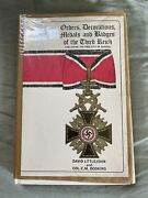 Ww2 German Book - Orders Decorations Medals And Badges Of The Third Reich