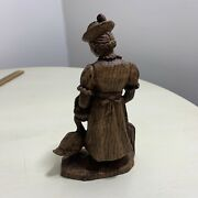 Wooden Mother Goose Statue Rare Nursery Rhymes