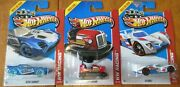 Lot Of 3 2013 Hot Wheels Hw Racing Nerve Hammer / Bump Around / 24 Ours