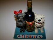 Dubonnet Vintage Molded French Bull Dog And Poodle Store Display Advertising