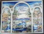 Stained Glass Serenity Prayer, Fabric Panel Wall/lap Quilt, Cut And Sew Craft