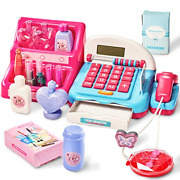 Hersity Kids Toy Till, Cash Registers Make Up Toys With Scanner Pretend Shopping