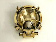 New Nautical Marine Ship Smooth Varnished Crafted Brass Deck Light Lot Of 10
