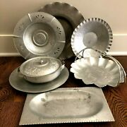 Lot Of 7 Forged Aluminum Dishes Ns Co Designed Aluminum Unbranded