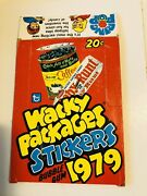 1979 Topps Wacky Packages Series 1 Empty Display Box