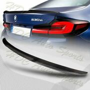 For 2017-2021 Bmw 5-series G30 V-type Real Carbon Fiber Rear Trunk Spoiler Wing