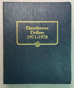 32 Bu And Proof Eisenhower Dollars In Deluxe Whitman Album - Includes 6 Silver