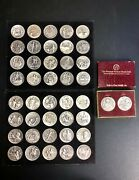 🌟42 Wittnauer Sterling .925 Fine Silver Art Medals Rounds 1470+ G
