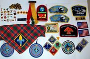 Cub Scout Webelos 50-piece Lot Of Pins, Patches, Scarf, Activity Badges