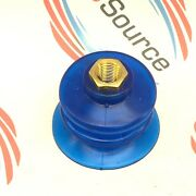 All-vac Vc-137 Blue Vinyl Bellows Suction Cups With Fittings 12-pack