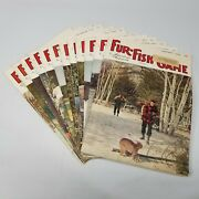 Vintage Fur Fish Game Magazine All 12 Issues Of 1963 Articles Advertising Decor
