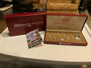 Singapore Sentosa Merlion 1999 Sterling Silver Proof Coin Set Cert And Box C4478