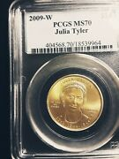 Rare Ms 70 Julia Tyler First Spouse 10 Gold Value 2300