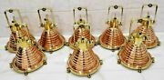 Vintage Nautical Cargo Pendant Hanging Light Made Of Brass And Copper 8 Piece