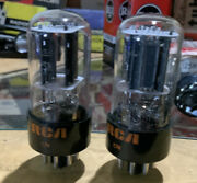 Lot Of 2 Vintage Rca 12sn7gta Tall Bottle Audio Tubes Twin Triodes