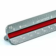 Stylo Architectural Scale Ruler - 12 Inch Laser Etched Triangle Drafting With