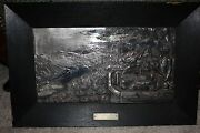 1910 German G Bommer Pewter Relief Famed Wall Plaque Signed 13 X 18
