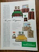 1951 Furniture By Tomlinson Ad Bedroom
