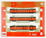 1281. Rivarossi N 0518 - Set Of 3 Traveling Cars Southern Pacific Lines Usa
