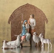 The Holy Family Statue Sculpture Hand Painting Willow Tree By Susan Lordi 7.5andrdquo